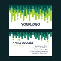 Abstract Green Business Card