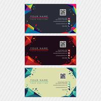 Low Poly Colorful Business Card Collection vector