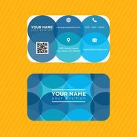 Blue Circles Business Card vector
