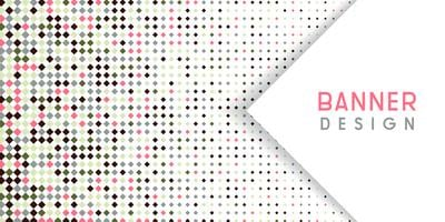 Abstract banner background with diamond halftone design vector