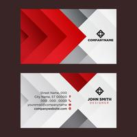 Red Grey Business Card
