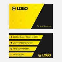Simple Black Yellow Business Card Template vector