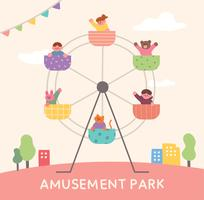 poster bambini parco divertimenti.