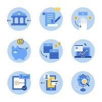 Ilustración de activos de negocios azul.