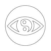 Sign of Eye icon vector