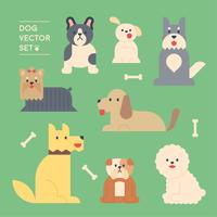 breed of dogs. vector