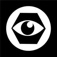 Signe des yeux icône