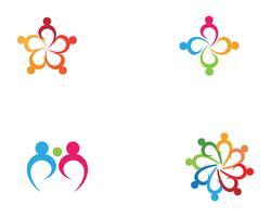 logotipo e símbolos da equipe do grupo da comunidade e do adoption