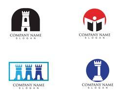 vetor de logotipo e símbolos de fortaleza