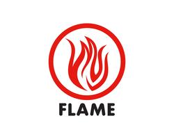 Fire flame Logo Template vector icon Oil, gas and energy logo concept