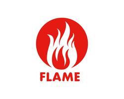 Icône de vecteur flamme Logo Logo Template Logo de pétrole, de gaz et d'énergie