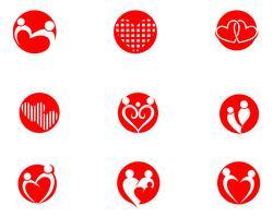 Adoptie gemeenschap zorg Logo sjabloon vector pictogram