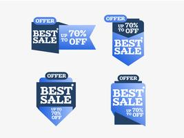 Best sale colorful creative shopping vector ribbons