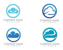 Cloud logo servers data  and symbols icons