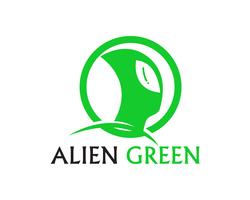Alien face icon vector logo and symbols template app