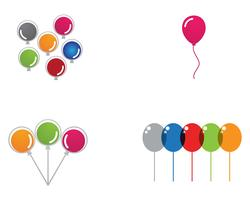 Flying vector festive balloons shiny with glossy balloons for holiday