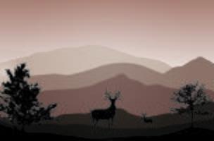 Um cervo no deserto