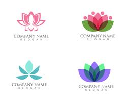 Lotus Flower Sign för Wellness, Spa och Yoga. Vektor illustration