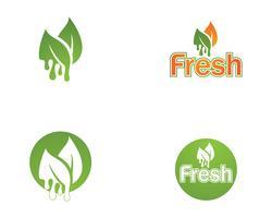 Logotipo fresco e símbolos vector ícone modelo natureza