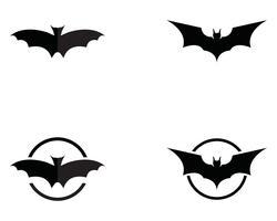 Modèle de logo et symboles de chauve-souris