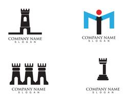 fortress logo  and symbols  vector