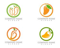 Mango logo and icon fruit vector template