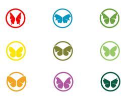 Schmetterlingsbegriffs einfache, bunte Ikone Vektorillustration