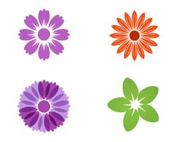 Jasmine flower icon vector illustration design logo template