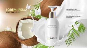 Concept poster for organic natural cream