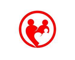 Cura della comunità di adozione Icona di vettore del modello di logo