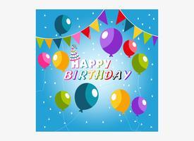 Colorful creative birthday wishing art template vector