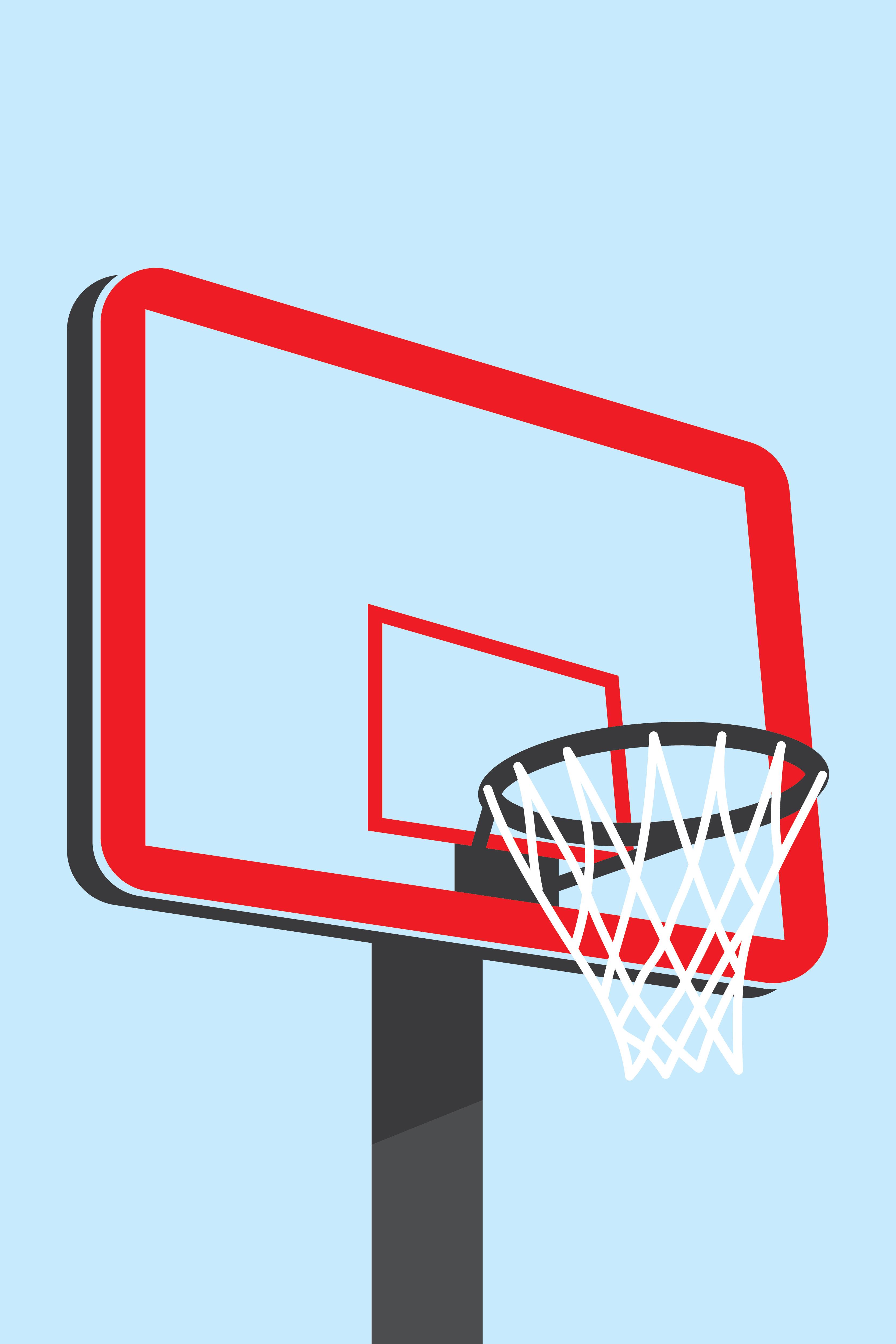 Panier De Basket Materiel De Sport Telecharger Vectoriel