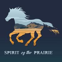 Spirit of the prairie vector