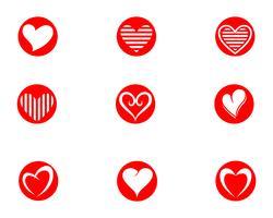 Amo o logotipo e símbolos app de modelo de vetor de ícones