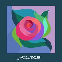 Greeting card with Abstract Rose