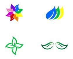 ícone verde do vetor do elemento da natureza da ecologia da folha,