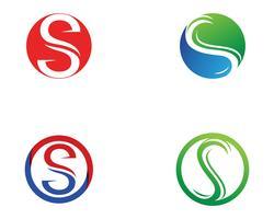 S-logo en symbolen sjabloon vector iconen