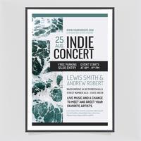 vektor indie konsertaffisch