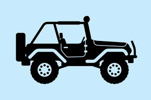 Silhouette de jeep. illustration vectorielle