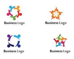As pessoas da cebola do grupo da comunidade importam-se o molde do logotipo e dos símbolos