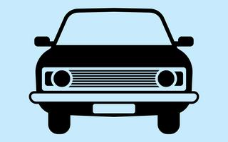 Retro car silhouette