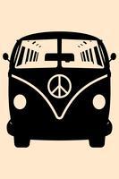 MiniVan Hippie Silhouette  vector