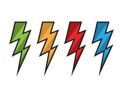 Vetor de ícones do relâmpago flash relâmpago