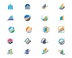 Modelo de logotipo de finanças de negócios