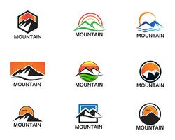 Minimalist Landscape Mountain logo design inspirations vector