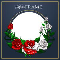 Roses Frame for greeting card vector