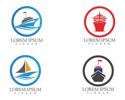 Ship filled outline icon transport and boat vector image..