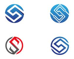 S logotipo e símbolos vetoriais modelo de ícones