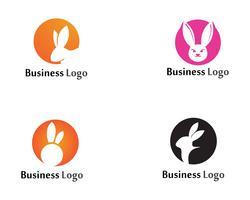 Modello di disegno di icona di vettore del modello di logo del coniglio app