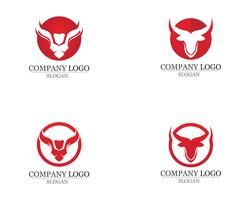 Bull horn logo and symbols template icons